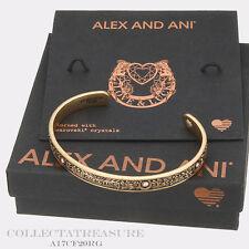 Authentic Alex and Ani Fortune's Favor Cuff Rafaelian Gold Bangle CUFF