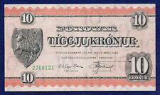 More details for faero islands, 1954 10 kronur banknote, high grade (ref. b1116)
