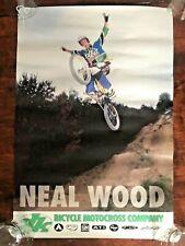 Motorcross Vintage Poster Neal Wood Bicycle Wall Art Man Cave Bike Dk Rare Print
