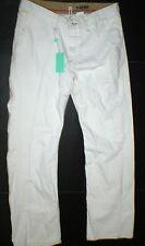 New NWT 36 x 32 Mens Designer Rogan Jeans USA White Relaxed R'ogan