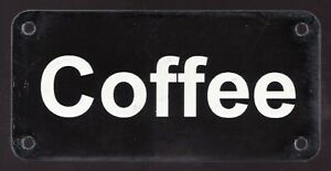 "Positive morning motivation sign - Coffee -  Superfleas -  2"" x 4"""