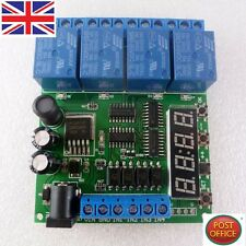 DC 5V 9V 12V 24V 4-Channel Multifunction Delay Time Timer Relay Switch Module