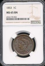 1853 Large Cent NGC MS65BN