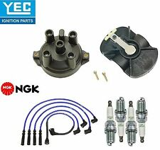 YEC & NGK Ignition Kit Distri.Cap Rotor Plugs Wire for Mazda Protege 1.8L 90-94