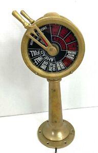 Vintage Ships Brass Engine Room Telegraph
