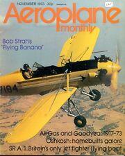 AEROPLANE MONTHLY NOV 73 RAF HS BUCCANEER_M.B.5_SAUNDERS ROE A/1_PT-22_PT-23_GOO
