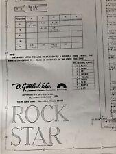 Gottlieb Rock Star Pinball Machine Schematic