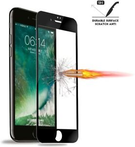 for iPhone SE 2020 8/7 HD Full Coverage Screen Protector Tempered Glass -Black
