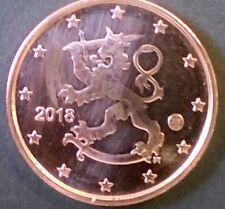 Misslag 1 cent Finland 2018 deels ontbrekend koperlaagje