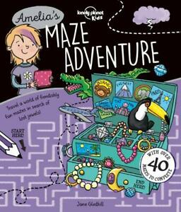 Lonely Planet Kids Amelia's Maze Adventure paperback FREE SHIPPING