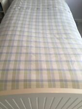 twin duvet cover 100% cotton Plaid White Blue Green