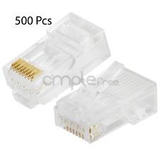 CAT5 Connector RJ45 End CAT5E 8P8C Modular Network Cable LAN Plug - 500 Pcs