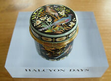 "Halcyon Days Chinoiserie Birds & Flowers Enamel Box - >1 3/4""(>4.5cms)"