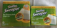 Lot (2) Boxes Swiffer Sweeper Dry Sweeping Refills Febreze Unopened; 48 Total