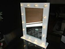 14 Led Bulb Dressing Table Vanity Mirror  Holly Wood Metal Frame Dressing Mirror