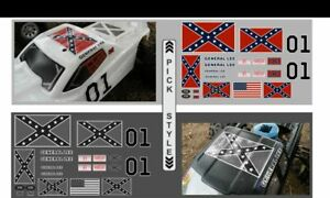 GENERAL LEE Dukes Of Hazzard 1/10 1/8 - RC Car Truck Crawler decals Stickers