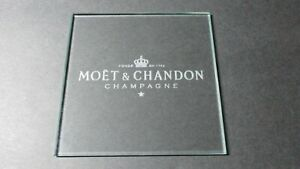 Moet & Chandon Champagne Clear Glass Laser Engraved Drinks Coaster Bar Lobby UK