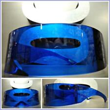 SPACE ROBOT PARTY RAVE DJ COSTUME CYCLOPS FUTURISTIC SHIELD Wrap SUNGLASSES Blue