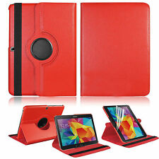 For Samsung Galaxy Tab 4 10.1 Tablet SM-T530NU Leather Rotating Case Cover SWTG