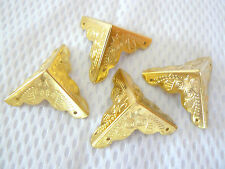 4 x Möbelbeschlag Antikbeschlag Eckbeschlag gold Zierteil Zierbeschlag Beschlag