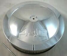 "14"" Chevy 440 Logo Muscle Car Style Chrome Steel Air Cleaner Holley Edelbrock"