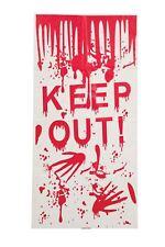 Décoration D'Halloween Keep Out Rideau de Porte Effrayant Effrayant Décor