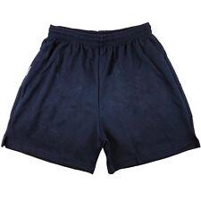Mens Boys Girls Unisex Mesh Shorts Gym Football Sports Games School PE Shorts