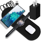 3in1 Wireless Charger Pad Power Adapter for Samsung Galaxy Z Flip SM-F700U Phone