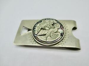 17.8 Gram Vintage Sterling Silver Abalone Taxco Money Clip