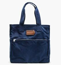 NEW MARC BY MARC JACOBS MBMJ TAKE US HOME SQUARE TOTE Ink Blue Large RETAIL $198
