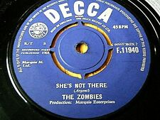 """THE ZOMBIES - SHE'S NOT THERE  7"""" VINYL"""