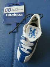 CHELSEA BLUE WHITE FOOTBALL BOOT CAR HANGER - BRAND NEW