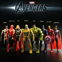 8pcs/set Avengers Thanos Bat Iron Men Captain America Thor Hulk Figures