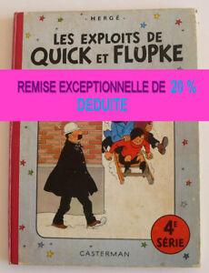 Les exploits de Quick et Flupke 4 ème série (Français) Album - RABAIS 20% déduit