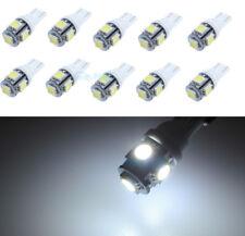 10Pcs T10 194 168 W5W 5050 8V 5 LED SMD White Car Side Wedge Light Lamp Bulbs