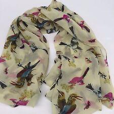 Bird butterfly Infinity Scarf soft Polyester