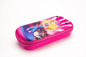 3D Pencil Case for Boys & Girls, Race Car, Cute Dancer Doll, Hardshell EVA Pouch