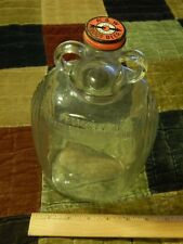 A&W Root Beer Vtg Bottle Cap w/ Orange Products Corp Ribbed 1/2 Gal Glass Bottle