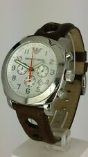 Emporio Armani AR5824 men's chrono watch brown rally AR-5824 analog 5 ATM