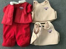 Outfits for 1985 World of Wonder Teddy Ruxpin 2 Tan Jacket Vest Red Vest & Onsie