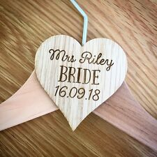 Personalised Laser Cut Wooden Coat Hanger Tags for DIY Wedding, Bridal Party
