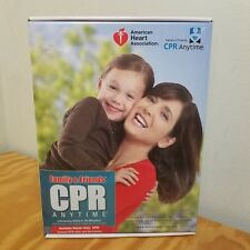 Family and Friends CPR AHA Anytime Manikin DVD Kit Spanish English New