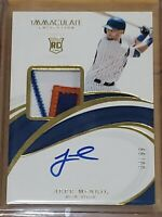 2019 Immaculate Jeff McNeil Autograph RC Auto True RPA 3 Color Patch Rookie /99