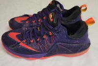 Nike Lebron XII, Low Court Purple Bright Crimson, 724557-565, Size 9.5