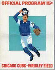 1973 (May 13 G1) Baseball program Philadelphia Phillies @ Chicago Cubs,scored~Fr