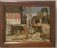 Original Signed H. Hargrove - Tobacco Farmhouse - Serigraph Art Painting