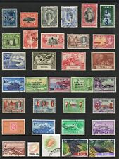 TONGA COLLECTION, 2 Pages of Good/Fine Used Stamps (42 TOTAL)