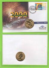 Australia 1999 Millenium 45c Hologram issue on Mercury Bronze $5 Coin FDC