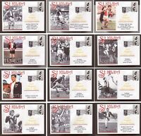 SET OF 12 ST KILDA FC INAUGURAL HALL OF FAME INDUCTEE SOUVENIR COVERS