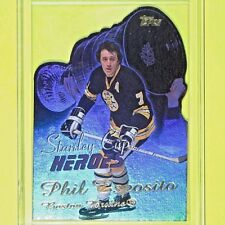 "PHIL ESPOSITO  '01-02   ""STANLEY CUP HEROES  DIE-CUT""  Topps   Boston Bruins"